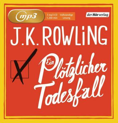 Ein plötzlicher Todesfall, 3 MP3-CDs, Joanne K. Rowling