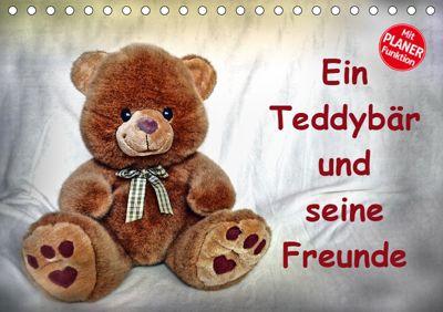 Ein Teddybär und seine Freunde (Tischkalender 2019 DIN A5 quer), Jennifer Chrystal