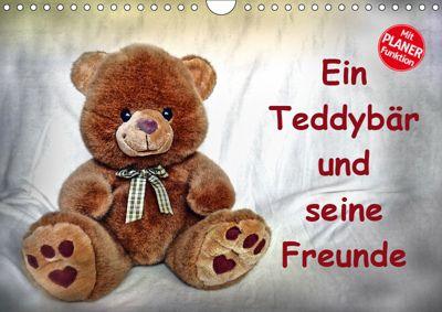 Ein Teddybär und seine Freunde (Wandkalender 2019 DIN A4 quer), Jennifer Chrystal