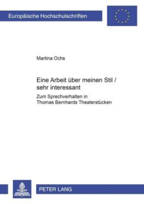Eine Arbeit über meinen Stil / sehr interessant, Martina Ochs