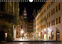 Eine Nacht in Dresden (Wandkalender 2019 DIN A4 quer) - Produktdetailbild 1