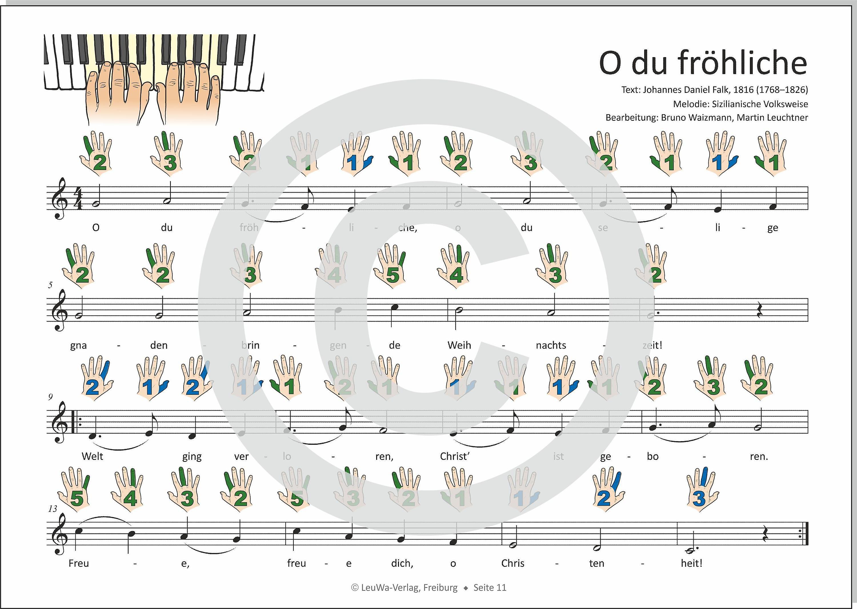 Noten Keyboard Weihnachtslieder Kostenlos.Einfacher Geht Nicht 24 Weihnachtslieder Für Klavier Und Keyboard