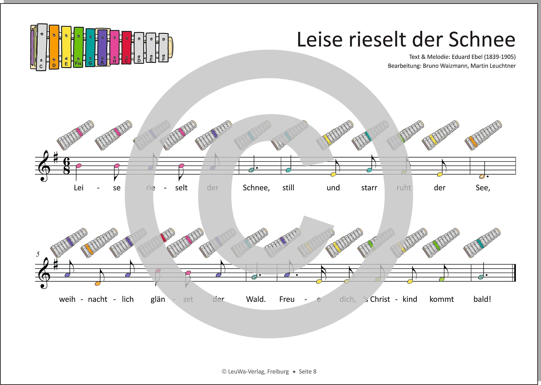 Glockenspiel Weihnachtslieder Noten Kostenlos.Einfacher Geht Nicht 24 Weihnachtslieder Für Das Sonor Bwg