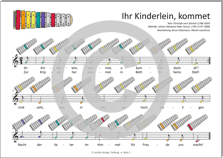 Weihnachtslieder Noten Für Glockenspiel.Einfacher Geht Nicht 24 Weihnachtslieder Für Das Sonor Bwg
