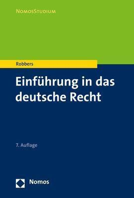 Einführung in das deutsche Recht - Gerhard Robbers |