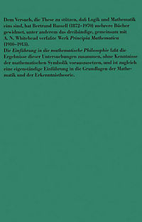 Einführung in die mathematische Philosophie - Produktdetailbild 1