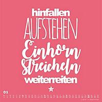 Einhorn-Kalender 2018 - FUNI Sprüche und Typo-Kalender 2018 - Produktdetailbild 1