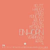 Einhorn-Kalender 2018 - FUNI Sprüche und Typo-Kalender 2018 - Produktdetailbild 4