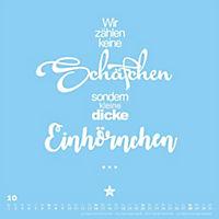 Einhorn-Kalender 2018 - FUNI Sprüche und Typo-Kalender 2018 - Produktdetailbild 10