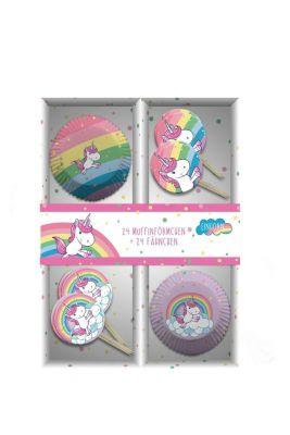 Einhorn Muffin Backset im Geschenkkarton