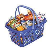 Einkaufskorb, blau, gefüllt - Produktdetailbild 1