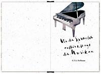 Eintragbuch mit Sammeltasche - Notes (Einband mit Noten) - Produktdetailbild 1