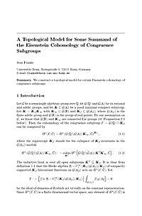 Eisenstein Series and Applications - Produktdetailbild 1