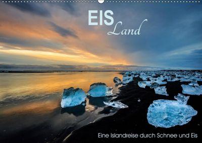 EISLand - Eine Islandreise durch Schnee und Eis (Wandkalender 2019 DIN A2 quer), Irma van der Wiel