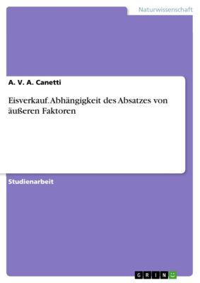 Eisverkauf. Abhängigkeit des Absatzes von äusseren Faktoren, A. V. A. Canetti
