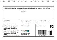 Elbsandsteingebirge: Unterwegs in der Sächsischen und Böhmischen Schweiz (Tischkalender 2019 DIN A5 quer) - Produktdetailbild 11
