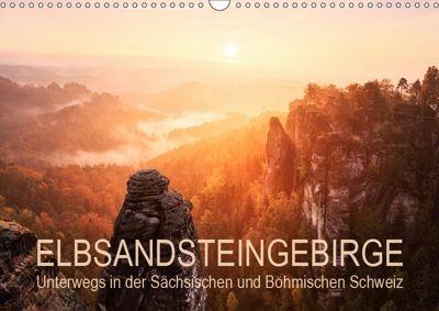 Elbsandsteingebirge: Unterwegs in der Sächsischen und Böhmischen Schweiz (Wandkalender 2019 DIN A3 quer), Gerhard Aust