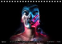 Electrified Faces - Lichtkunst Portraits (Tischkalender 2019 DIN A5 quer) - Produktdetailbild 4