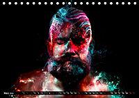 Electrified Faces - Lichtkunst Portraits (Tischkalender 2019 DIN A5 quer) - Produktdetailbild 3
