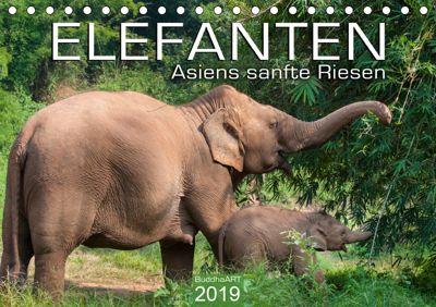 ELEFANTEN Asiens sanfte Riesen (Tischkalender 2019 DIN A5 quer), BuddhaART