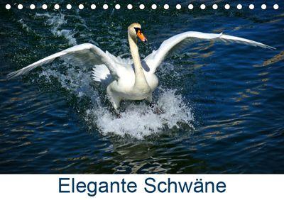 Elegante Schwäne (Tischkalender 2019 DIN A5 quer), kattobello