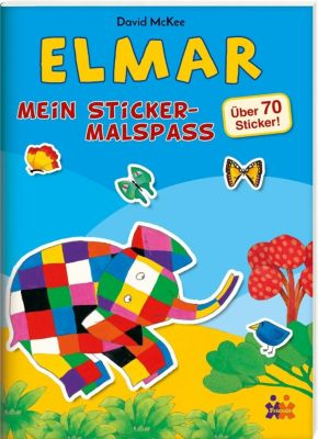 Elmar - Mein Sticker-Malspass, David McKee
