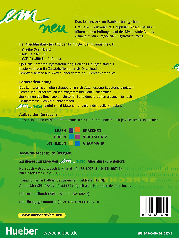 Em Neu 2008 Abschlusskurs Kursbuch Und Arbeitsbuch Lektion 1 5 M