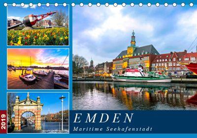 EMDEN maritime Seehafenstadt (Tischkalender 2019 DIN A5 quer), Andrea Dreegmeyer