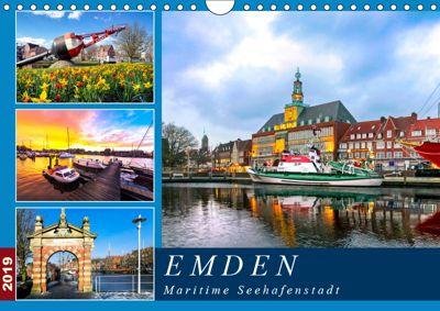 EMDEN maritime Seehafenstadt (Wandkalender 2019 DIN A4 quer), Andrea Dreegmeyer