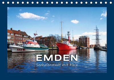 EMDEN Seehafenstadt mit Flair (Tischkalender 2019 DIN A5 quer), Andrea Dreegmeyer