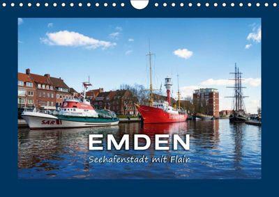 EMDEN Seehafenstadt mit Flair (Wandkalender 2019 DIN A4 quer), Andrea Dreegmeyer
