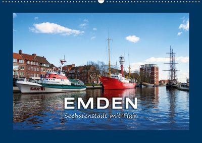 EMDEN Seehafenstadt mit Flair (Wandkalender 2019 DIN A2 quer), Andrea Dreegmeyer