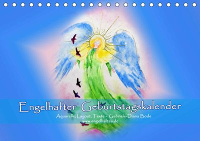 Engelhafter Geburtstagskalender (Tischkalender 2019 DIN A5 quer), Gabriele-Diana Bode