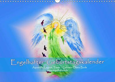 Engelhafter Geburtstagskalender (Wandkalender 2019 DIN A3 quer), Gabriele-Diana Bode