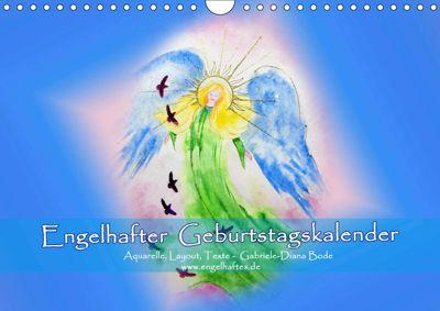 Engelhafter Geburtstagskalender (Wandkalender 2019 DIN A4 quer), Gabriele-Diana Bode