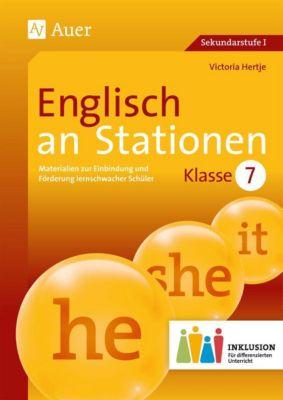 Englisch an Stationen 7 Inklusion, m. Audio-CD, Victoria Hertje