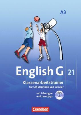 English G 21, Ausgabe A: Bd.3 7. Schuljahr, Klassenarbeitstrainer mit Audios online