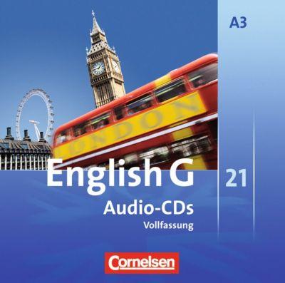 English G 21, Ausgabe A: Bd.3 7. Schuljahr, Audio-CDs (Vollfassung)