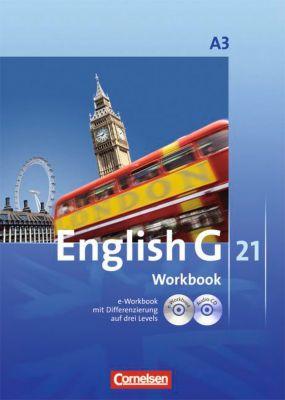 English G 21, Ausgabe A: Bd.3 7. Schuljahr, Workbook m. CD-ROM u. Audio-CD