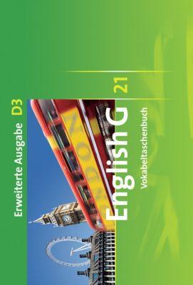 English G 21, Ausgabe D: Bd.3 7. Schuljahr, Vokabeltaschenbuch, Erweiterte Ausgabe