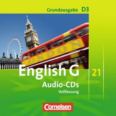 English G 21, Ausgabe D: Bd.3 7. Schuljahr, 2 Audio-CDs, Grundausgabe (Vollfassung)