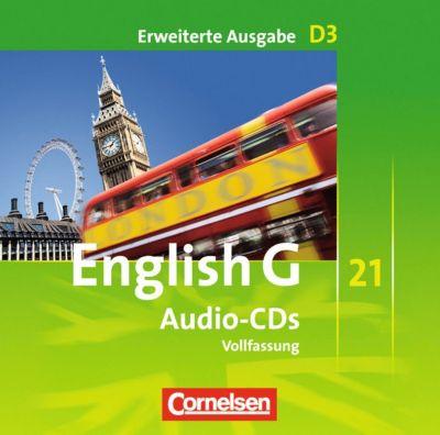 English G 21, Ausgabe D: Bd.3 7. Schuljahr, 3 Audio-CDs (Erweiterte Ausgabe - Vollfassung)
