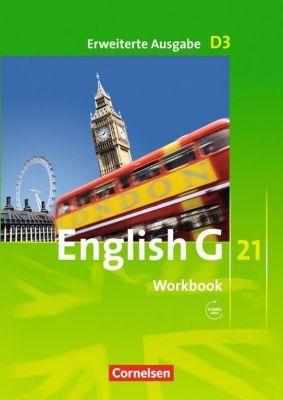 English G 21, Ausgabe D: Bd.3 7. Schuljahr, Workbook m. Audios online, Erweiterte Ausgabe