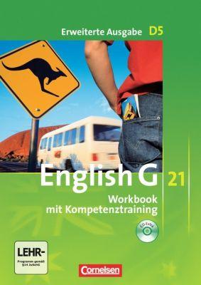 English G 21, Ausgabe D: Bd.5 9. Schuljahr, Workbook mit Kompetenztraining, m. Audios online, Erweiterte Ausgabe, Jennifer Seidl