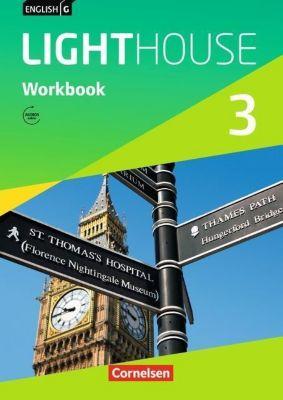 English G Lighthouse, Allgemeine Ausgabe: Bd.3 7. Schuljahr, Workbook mit Audios online, Gwen Berwick