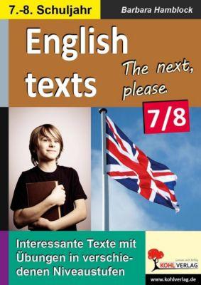 English texts - The next, please. / Klasse 7-8, Barbara Hamblock
