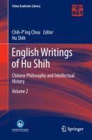 English Writings of Hu Shih, Hu Shih