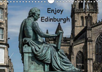 Enjoy Edinburgh 2019 (Wall Calendar 2019 DIN A4 Landscape), Anke Grau
