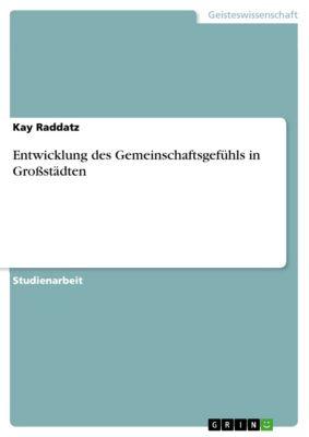 Entwicklung des Gemeinschaftsgefühls in Großstädten, Kay Raddatz