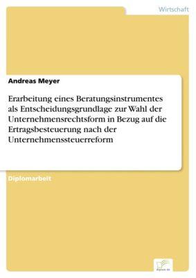 Erarbeitung eines Beratungsinstrumentes als Entscheidungsgrundlage zur Wahl der Unternehmensrechtsform in Bezug auf die Ertragsbesteuerung nach der Unternehmenssteuerreform, Andreas Meyer